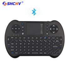Bluetooh Wireless Mini Keyboard Remote Control Touchpad Mouse Keyborad Android TV Box Laptop for Orange Pi for iPhone 6 7 RPI 3(China)