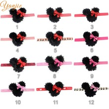 10pcs/lot NewArrival Lovely Infantile Kid Girl Minnie Mouse Flores Elastic Headband Chic Kids Hair Accessories Headwrap Headwear