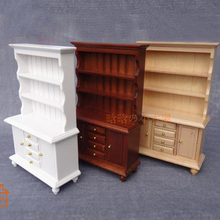 Display Cupboard Cabinet 3layer wooden miniature dollhouse 1/12 scale #C001