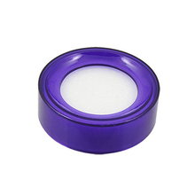 Purple Plastic Round Case White Sponge Finger Wet Money Cashier