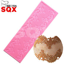 Wholesale Silicone mold Sugar lace mat Decoration mold Fondant cake mold kitchen accessories LS70
