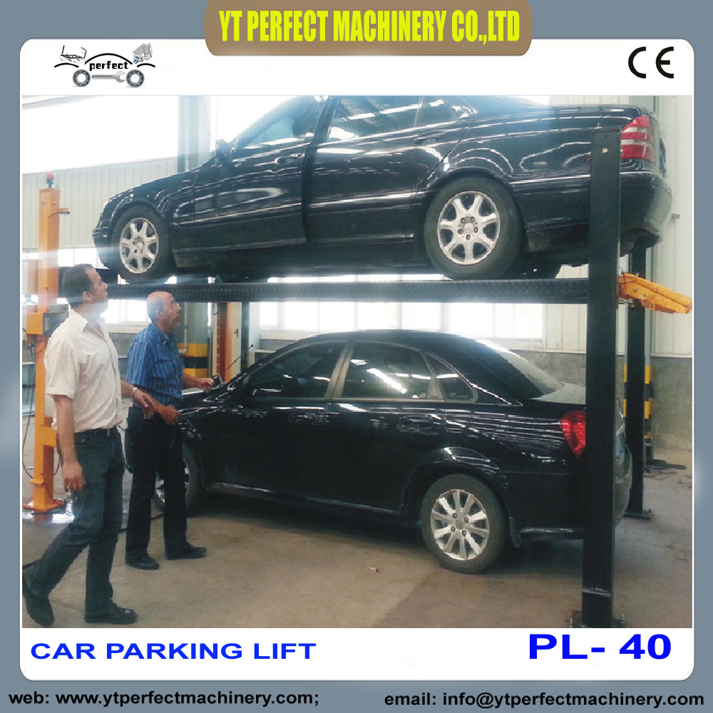 four post Car Parking Lift Mechanical Car Lift PL-40(China)