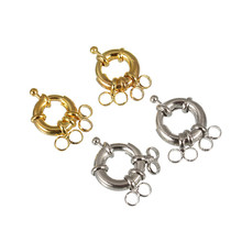 XINYAO 10pcs/lot Rhodium Color Necklace Spring Clasps Outer Diameter 11/13/17mm Connectors Hooks For Jewelry Making DIY F2165