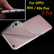 2 Pcs 3D Anti-fingerprint Full Cover Clear Carbon Fiber Back Screen Protector Film Wrap Skin Stickers For OPPO R9s Plus