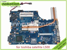NOKOTION KSWAA LA-4981P REV 1.0 Laptop Motherboard toshiba satellite L500 intel GL40 DDR2 Without graphics slot Mainboard