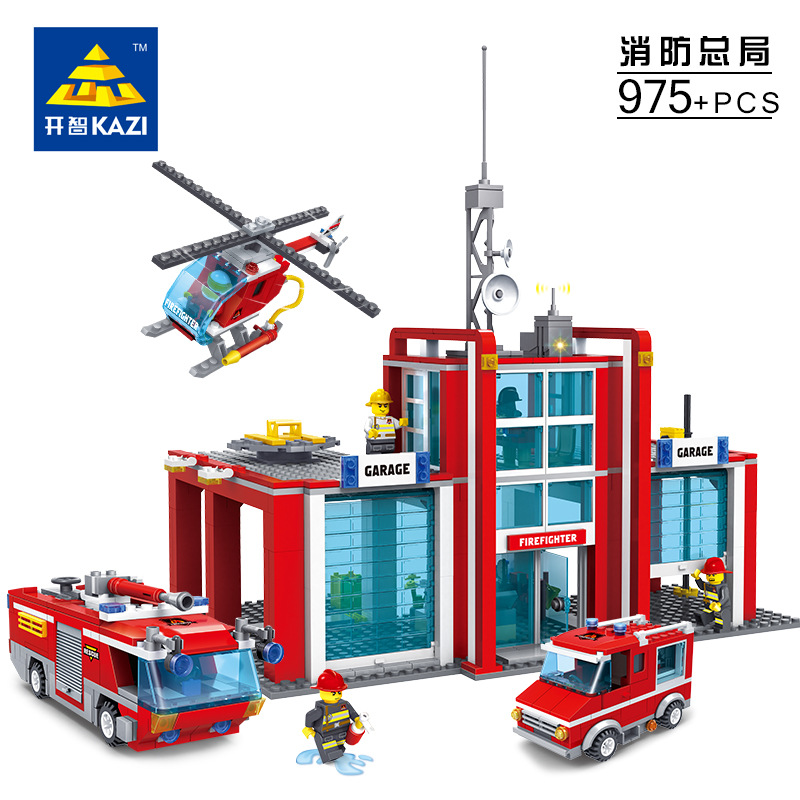 Super Large Fire Station 774 Pcs Building Blocks Helicopter Educational Bricks Toy Blocks Compatible with lepin<br><br>Aliexpress