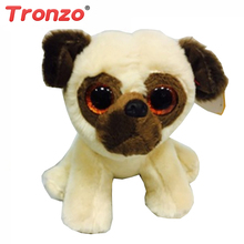 Tronzo 1Pcs Ty Beanie Boos Gray Cat Plush Toy Doll Baby Stuffed Plush Animals 15cm Big Eyes Stuffed Animals Plush Christmas Gift(China)