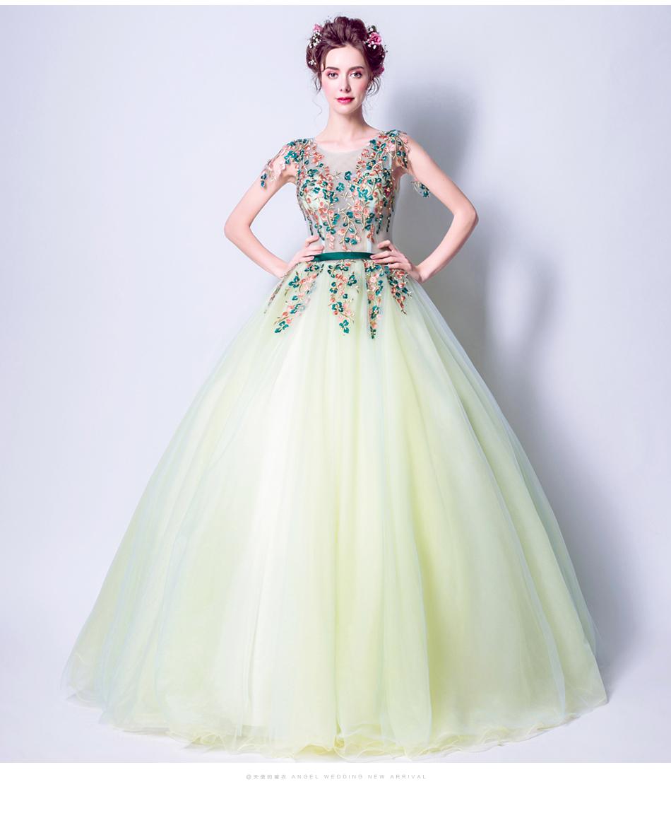 Angel Wedding Dress Marriage Bride Bridal Gown Vestido De Noiva 2017 Green, embroidery, the wizard of Oz 2217 10