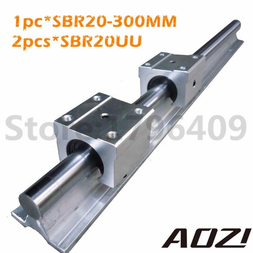 High Quality Linear Supporter Rail SBR20 L=300mm + 2PCS SBR20UU New Linear Block For 20mm Linear Rail<br><br>Aliexpress