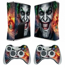 250 Joker Vinyl Skin Sticker Protector for Microsoft Xbox 360 Slim and 2 controller skins Stickers for XBOX360 SLIM