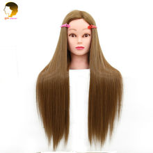 Mannequin Head With Hair Cosmetology Mannequin Heads Dummy Hairstyles Long Hair And Natural Hairdresser Head For Girls Big Sale