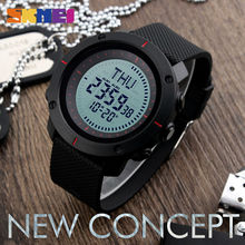SKMEI Fashion Sports Watches Men Multiple Digital Time Compass Watch 3 Alarm 50M Waterproof Chronograph Shock Wristwatches 1216(China)