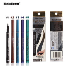 2017 Music Flower New Makeup Cosmetic Black Eyeliner Waterproof Eye Liner Pencil Shadow KAJAL Gel Eyeliner Make up Smokey Eye