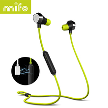 mifo i8 Sports Bluetooth Earphone Stereo Music Wireless Headset Magnetic Suction Charging Earphones Headphone For Iphone Samsung(China)