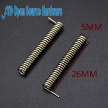 10pcs 433MHZ High Performance Phosphor Bronze Nickel Plated Copper Wire Spring Built-in Antenna(China)