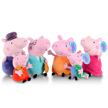 Original PeppaPiged Dragon And Bear Plush Toys 19/30cm George Pig Family  Birthday Gifts For Children Moana Baby Animal