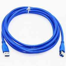 USB 3.0 Printer Cable Type A Male to Type B Male Foil+Braided+PVC Shielding 30cm 50cm 100cm 1.5m 1.8m 3m 5m Premium Quality