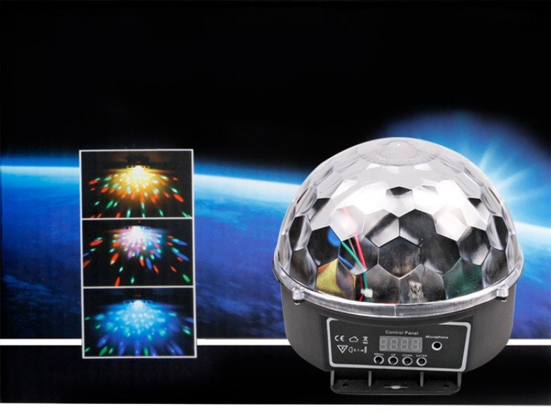 6 LED 18W Remote Control Crystal Magic Ball Led Stage Lamp Disco Laser Light Party Lights Sound Control Christmas Light KTV<br><br>Aliexpress