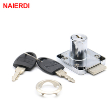 NAIERDI-138 Universal Drawer Cam Lock Zinc Alloy Cabinet Office Cupboard Desk Locks With Iron/Plastic Key For Furniture Hardware
