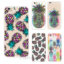 NEW NOVELTY Fruit Pineapple Transparent Case Cover For Apple iPhone X 8 4 4S 5 5S SE 5C 6 6S 7 Plus 6SPlus(China)
