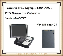 Top-rated Toughbook Panasonic CF 19 CF19 CF-19 laptop with DTS Monaco8+Vediamo+Xentry+DAS+EPC installed in SSD for MB Star C4