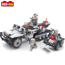 Buy KAZI 393+pcs Semi-tracker D-23 Mine clearance vehicles Building Blocks Compatible Legoed Military bricks toys children boys for $17.65 in AliExpress store