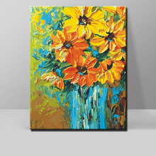 Diy painting by numbers hand painted canvas Digital oil painting Garland chrysanthemum picture wall canvas art decoration