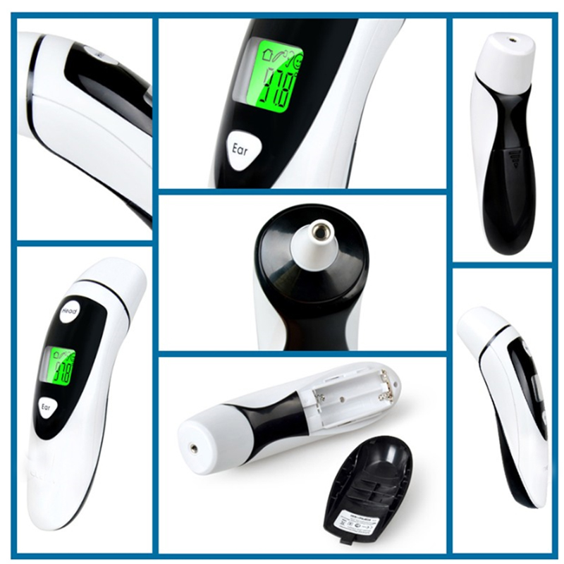 2PC Non-contact Ear &amp; Forehead LCD Digital Infrared Thermometer Baby Adult Body Temperature Monitor CE FDA Approved<br>