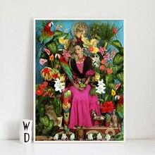 Mexico Legendary Woman Frida Self-portrait Posters Prints Wall Art Paintings Cnavas Pictures Living Room Home Decor