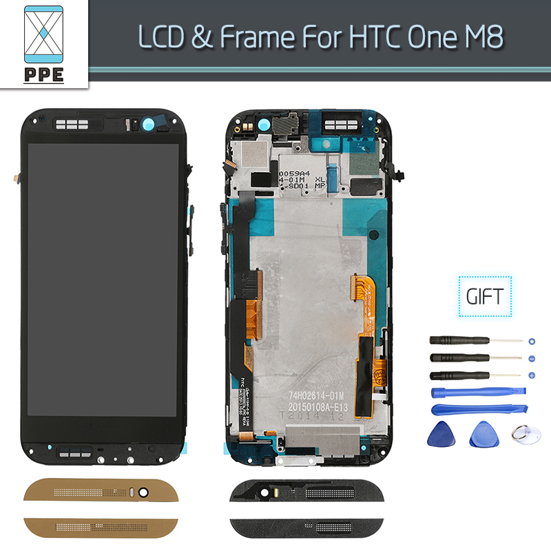 LCD Complete for HTC One M8 LCD Original Display Touch Screen Digitizer Pantalla With Frame Assembly Original Replacement<br><br>Aliexpress