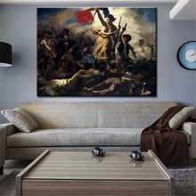 Eugene Delacroix La liberte guidant le peuple wall Picture For Living Room oil painting wall art Print wall painting No Framed(China)