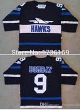 SexeMara Movie Worn 1973 Mighty Ducks Hawks #9 Gordon Bombay Jersey Custom Your Any Name Number