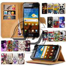 "For Samsung Galaxy S2 SII i9100 Case 4.3"" Universal Print Magnetic Stand Card Holder Wallet Flip Leather Cover Bag For Galaxy S2"