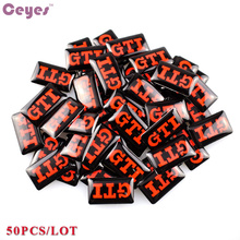 CEYES Car Styling Steering Wheel Epoxy Car Sticker Fit For Volkswagen Scirocco CC GOLF 7 Golf 6 MK6 Polo VW GTI Emblem 50pcs/set