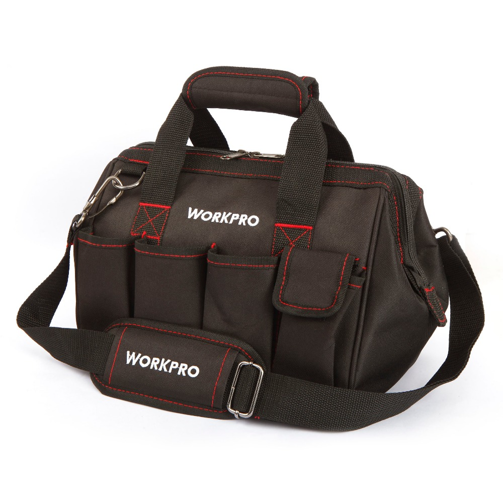 WORKPRO 12 Tool Bags 600D Small Tool Bag Close Top Wide Mouth Electrician bag Tool pouch<br><br>Aliexpress