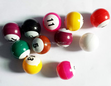 16 ASSORTED POOL BALL BILLIARDS complete set - PARTY FAVORS toys and prize gift - novelty birthday party favors gift toy prize