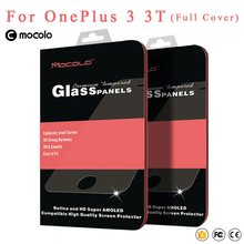 Original Mocolo Full Cover oneplus 3 Tempered Glass oneplus x One plus Three Screen Protector Film For oneplus 3T 1+ 3T Glass