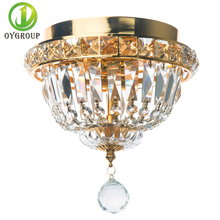 Modern Gold Ceiling Lamp With Crystal Lampshade E14 2pcs of Bulb Ceiling Lighting for Living Room Bedroom Hotel Bar