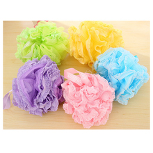 1Pcs Soft Natural Loofah Bath Flower Bath Ball Scrubber Shower Puffs Body Cleaning Exfoliating Bath Shower Sponge Mesh