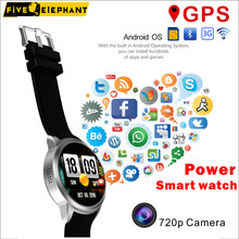 Best Power Smart Watch X200 App Install 720p camera GPS Navigation Wifi SIM 3G Quad core Android IPS Display for iphone samsung(China)