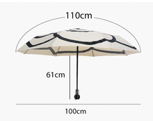 High Quality Camellia Umbrella Women Fashion 3 Fold Umbrellas Automatic Camellia Flower Parasol Sunshade Rain UV Bumbershoot