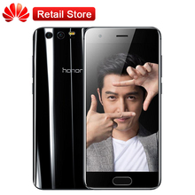 Huawei Honor 9 6GB+64GB 5.15'' Octa Core 1920*1080 3200mAh 3 Cameras 1080P Global Firmware Mobile Phone Fingerprint NFC(China)