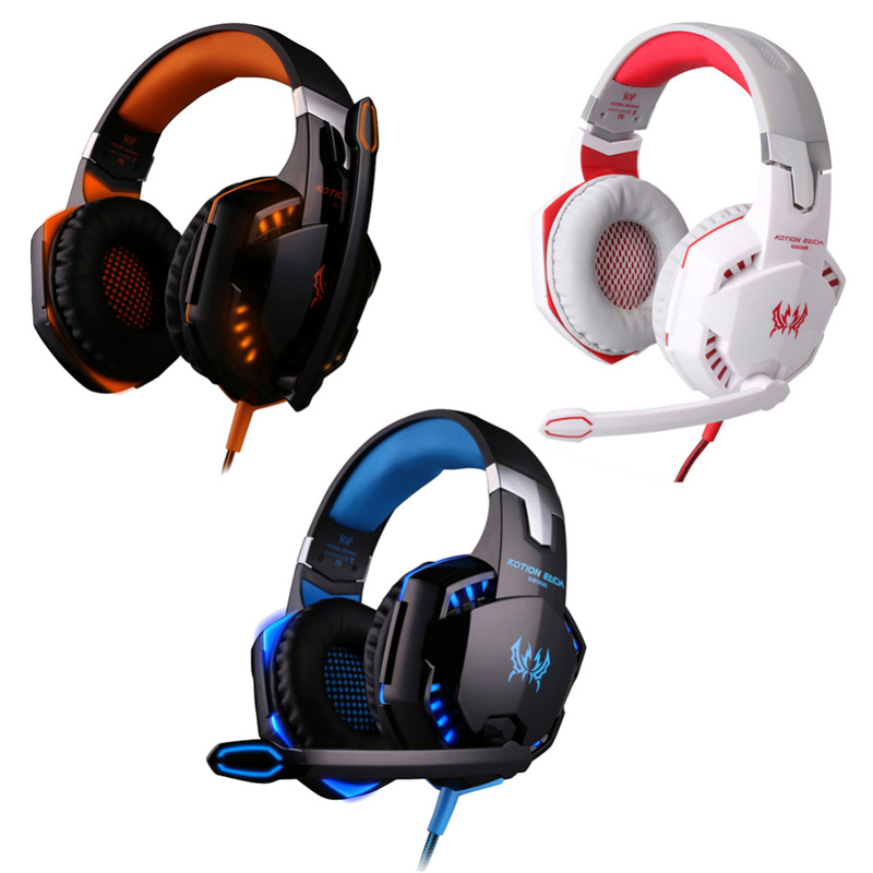 EACH G2000 With Retail Box gaming headset Stereo Surround game headphone gaming earphone with deep bass microphone for computer<br><br>Aliexpress
