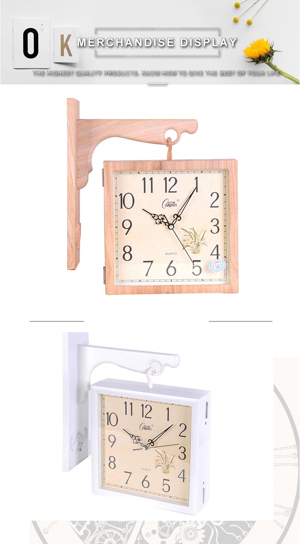 Wall Clock Wall Clock Wood Digital Wall Clock Led 3d Led Wall Clock Barber Shop Modern Clock Wood Clock Wall Diy Clock Watch (7)
