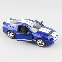 kid's 1:32 Scale brand small Ford Shelby GT500 mustang diecasting race sport car replica pull back model cheap toy gift for boy(China)
