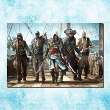 Assassins Creed 3 4 Black Flag Art Silk Canvas Poster Huge Print 13x20 32x48 inches Game Wall Pictures (more)-2