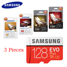 SAMSUNG Micro SD Card 128GB 64gb 32gb 256gb 100Mb/s Memory Card Class10 U3 Flash TF Microsd Card for Phone SDHC SDXC 3 Pieces(China)