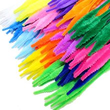 100pcs/lot Wavy Shape Chenille Stems Pipe Cleaners Kids Toys DIY Handicraft Materials For Creative Kids Educational Toys(China)