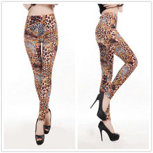 Women Fashion Leopard Printing Leggings Adult Sexy Street Fashion Animal Leopard Legwear For Ladies