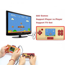 Best Classic Retro Handheld Game Console Children's Video Game Players 600 Games + USB Gampad for FC Pocket Christmas Gift(China)